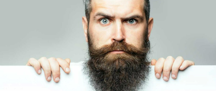 how to straighten curly beard hair