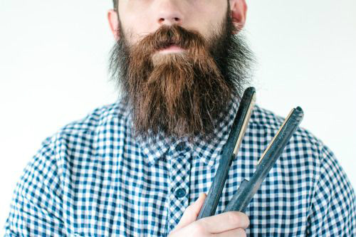 mini beard straightener